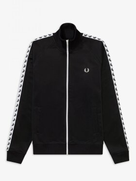 Taped Track Jacket Black