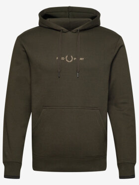 Embroid. Hooded Sweat H Green