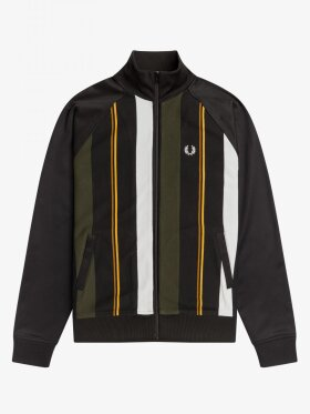 KNITTED STRIPE TRACK JACKET